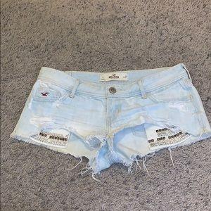 Hollister Light Wash Blue Jean Shorts
